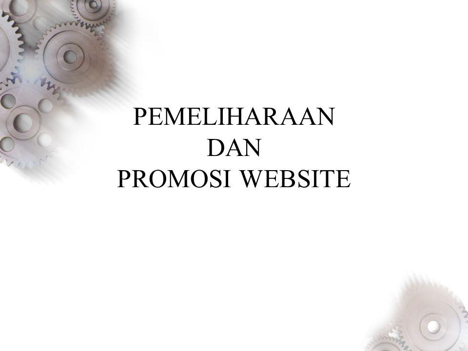 PEMELIHARAAN DAN PROMOSI WEBSITE