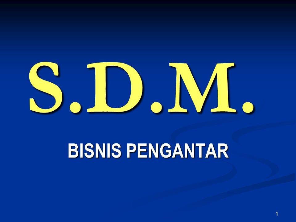 1 S.D.M. BISNIS PENGANTAR