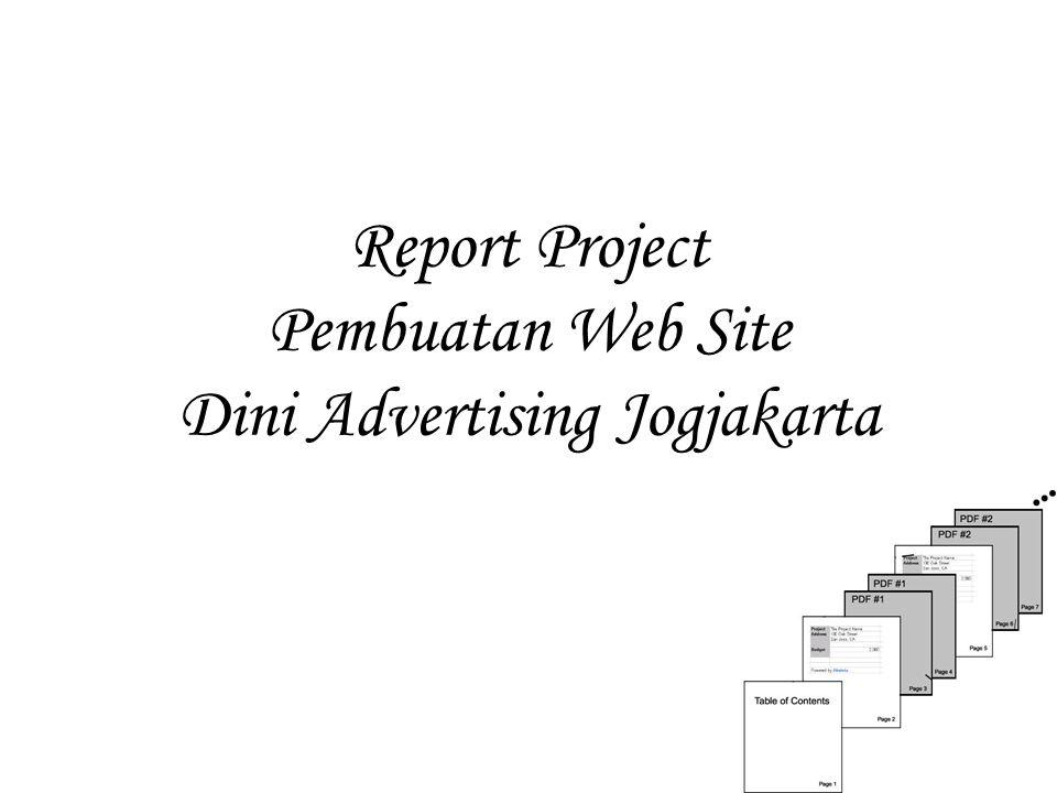 Report Project Pembuatan Web Site Dini Advertising Jogjakarta