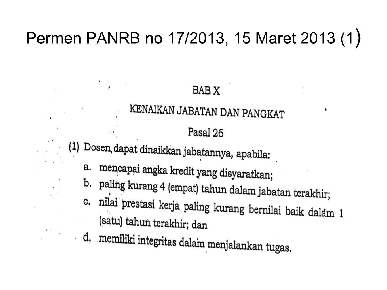 Permen PANRB no 17/2013, 15 Maret 2013 (1 )
