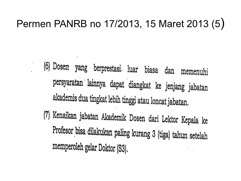 Permen PANRB no 17/2013, 15 Maret 2013 (5 )
