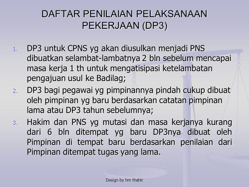 Tunjangan Kinerja tidak diberikan kepada : 1. Hakim dan PNS yg tidak diberikan tugas/pekerjaan/ jabatan karena dikenai tindakan; 2. Hakim dan PNS yg d