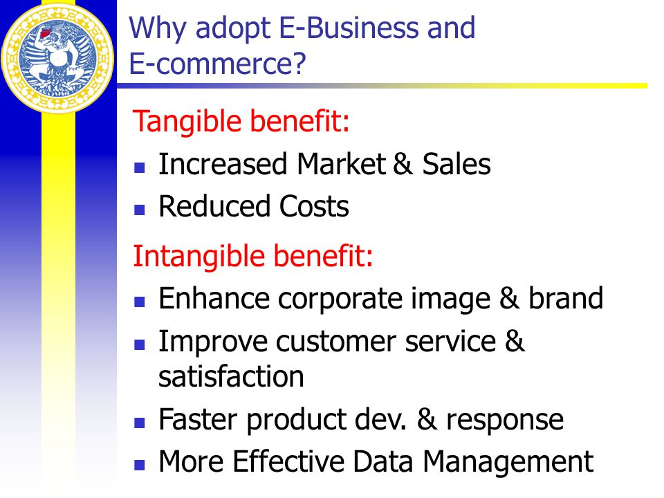 Why adopt E-Business and E-commerce.