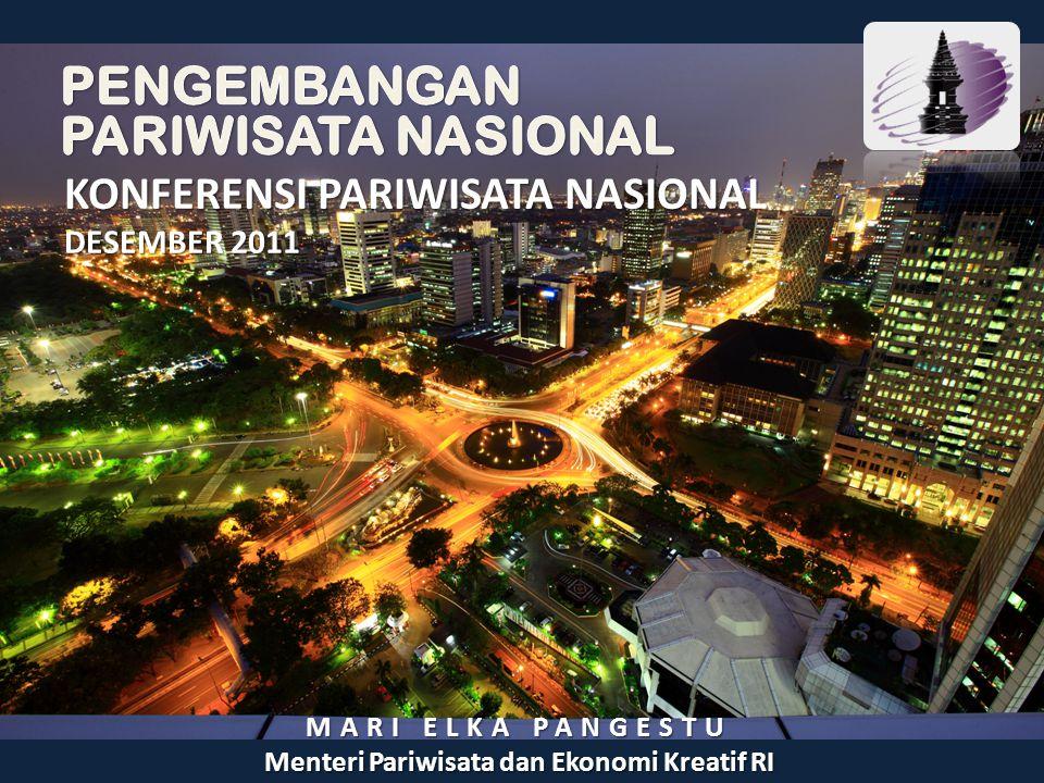 KONFERENSI PARIWISATA NASIONAL DESEMBER 2011 MARI ELKA PANGESTU Menteri Pariwisata dan Ekonomi Kreatif RI