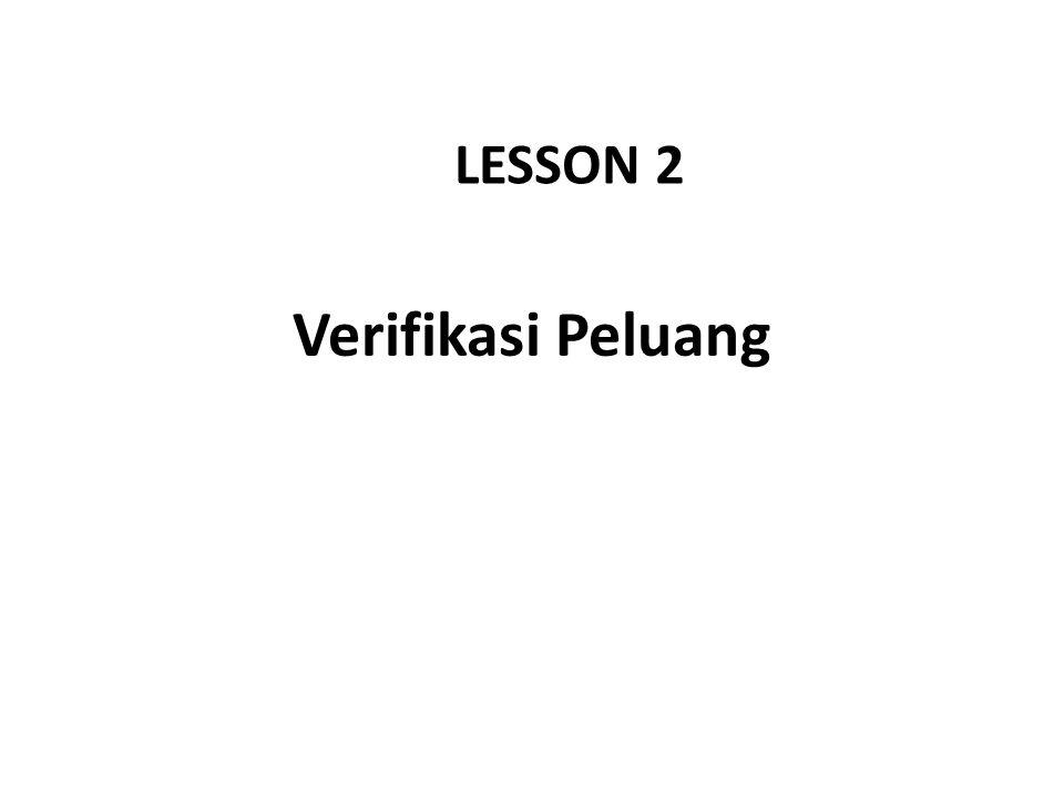 Verifikasi Peluang LESSON 2