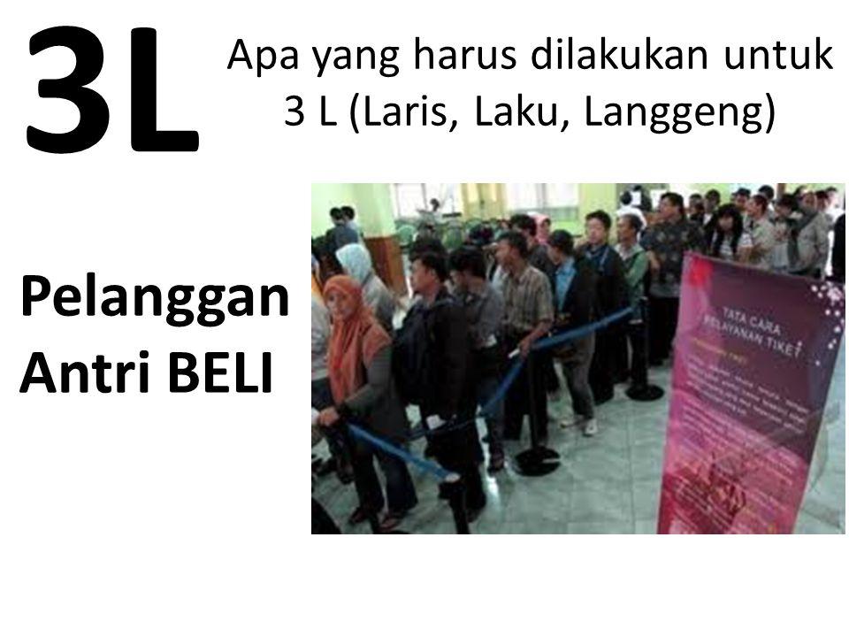 Apa yang harus dilakukan untuk 3 L (Laris, Laku, Langgeng) Pelanggan Antri BELI 3L