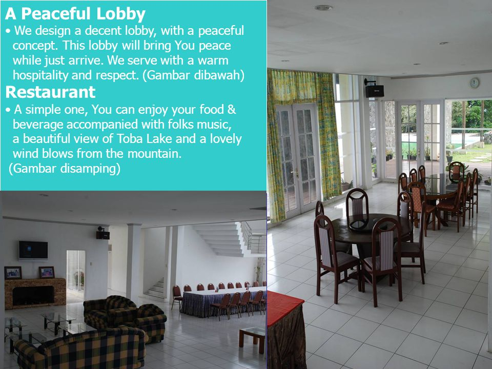 A Peaceful Lobby • We design a decent lobby, with a peaceful concept.