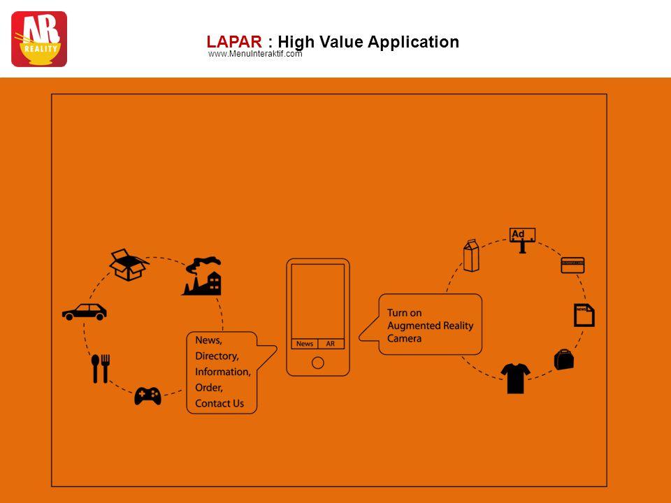 LAPAR : High Value Application www.MenuInteraktif.com