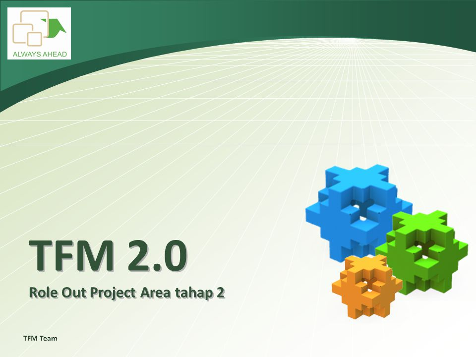 TFM Team TFM 2.0 Role Out Project Area tahap 2