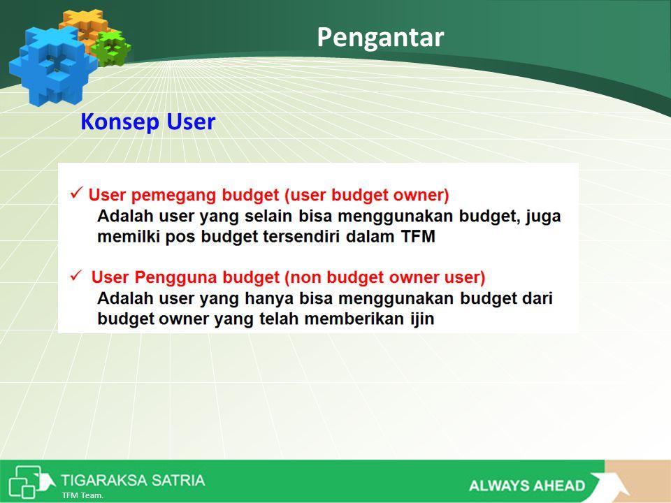 TFM Team. Pengantar Konsep User