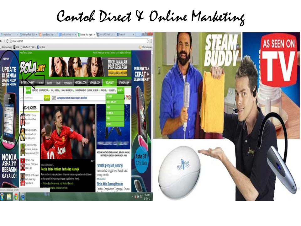 Contoh Direct & Online Marketing