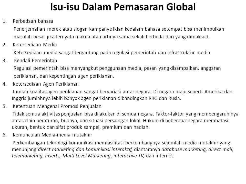 Isu-isu Dalam Pemasaran Global 1.