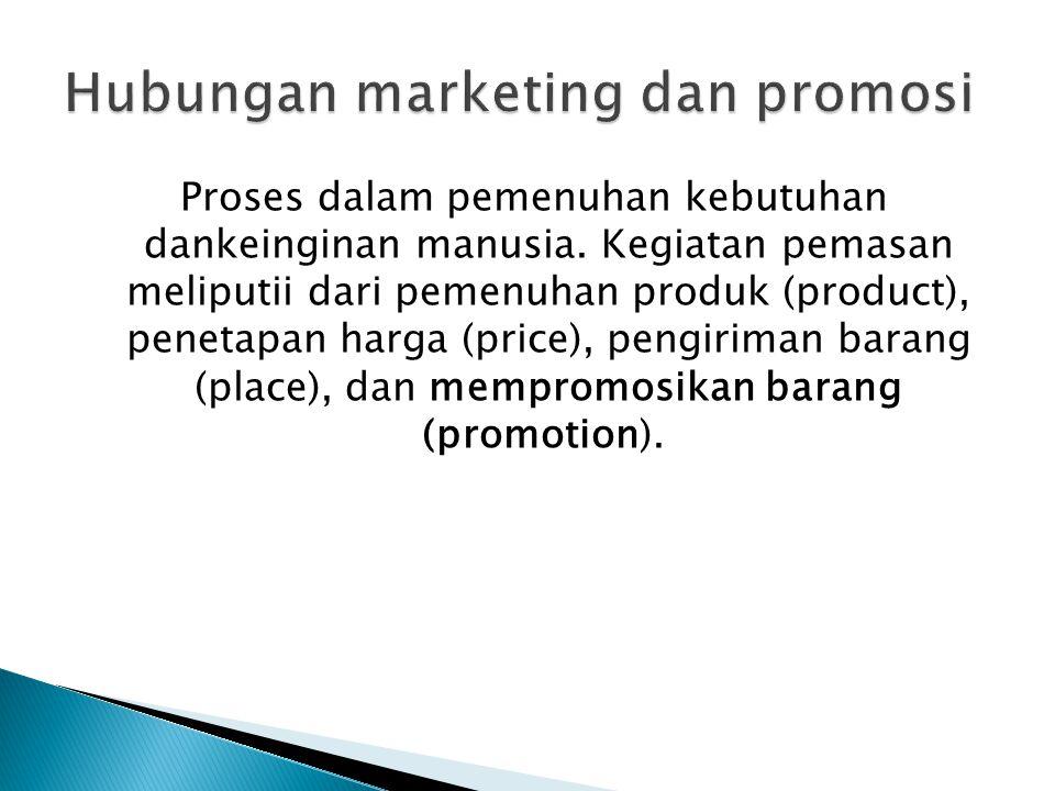 Promosi adalah upaya untuk memberitahukanatau menawarkan produk atau jasa pada dengan tujuan menarik calon konsumen untuk membeli atau mengkonsumsinya.
