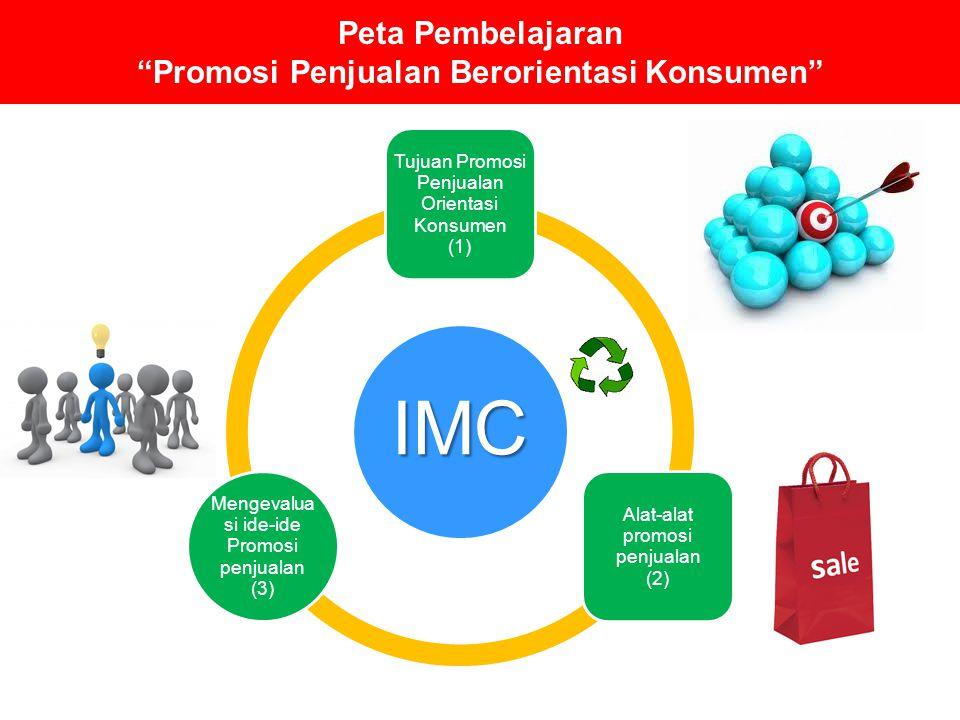 "Peta Pembelajaran ""Promosi Penjualan Berorientasi Konsumen"" IMC Tujuan Promosi Penjualan Orientasi Konsumen (1) Alat-alat promosi penjualan (2) Mengev"