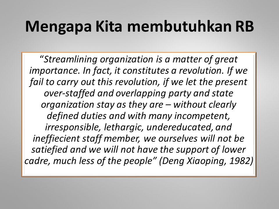 Apa yang kita maksudkan dengan Reformasi Administrasi.