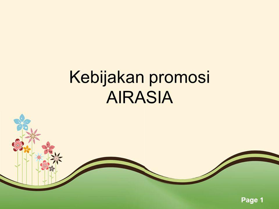 Page 1 Kebijakan promosi AIRASIA