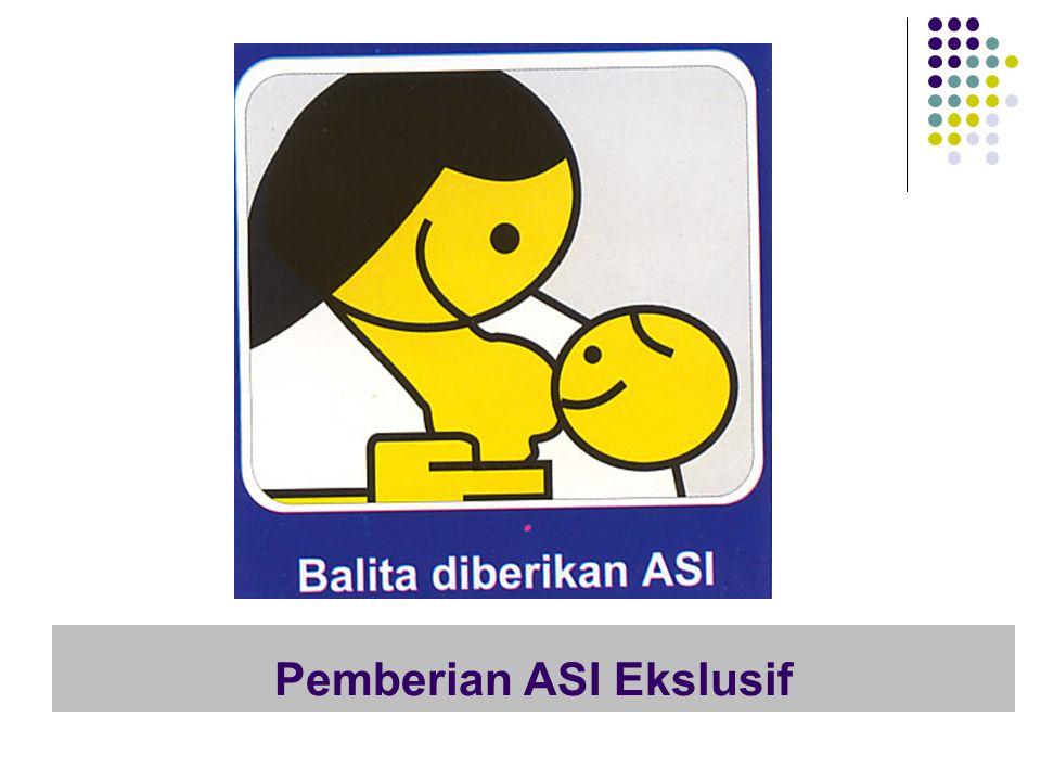 Ibu dengan kesadaran penuh memberi Bayi nya ASI saja sejak lahir sampai usia 6 bulan.