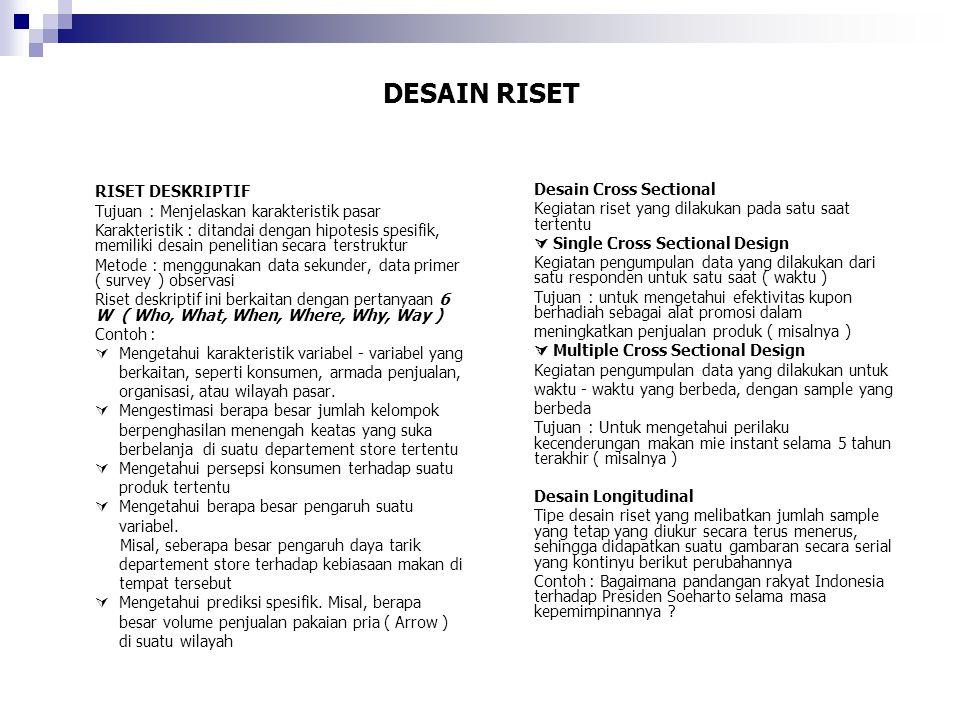 DESAIN RISET Perbedaan CSD dan LD KriteriaCSDLD 1.