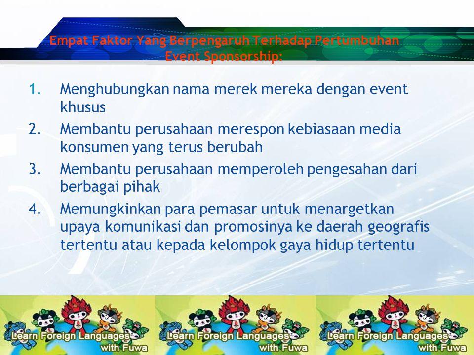 1.Menghubungkan nama merek mereka dengan event khusus 2.