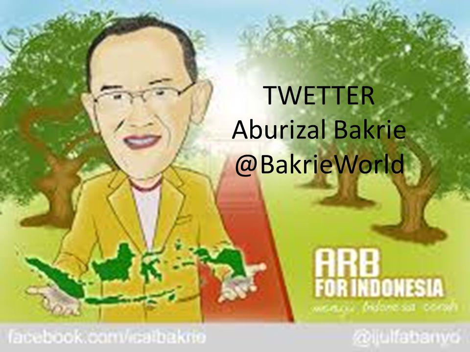 TWETTER Aburizal Bakrie @BakrieWorld
