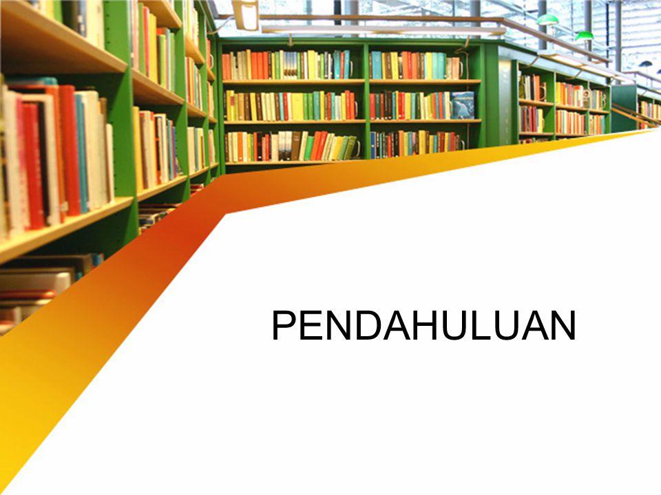 PERPUSTAKAAN Perpustakaan adalah institusi pengelola koleksi karya tulis, karya cetak, dan / atau karya rekam secara profesional dengan sistem yang baku guna memenuhi kebutuhan pendidikan, penelitian, pelestarian, informasi, dan rekreasi para pemustaka (UU No.