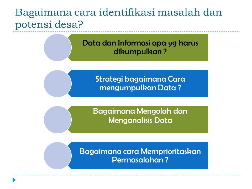 Bagaimana cara identifikasi masalah dan potensi desa.
