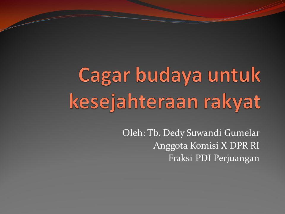 Oleh: Tb. Dedy Suwandi Gumelar Anggota Komisi X DPR RI Fraksi PDI Perjuangan