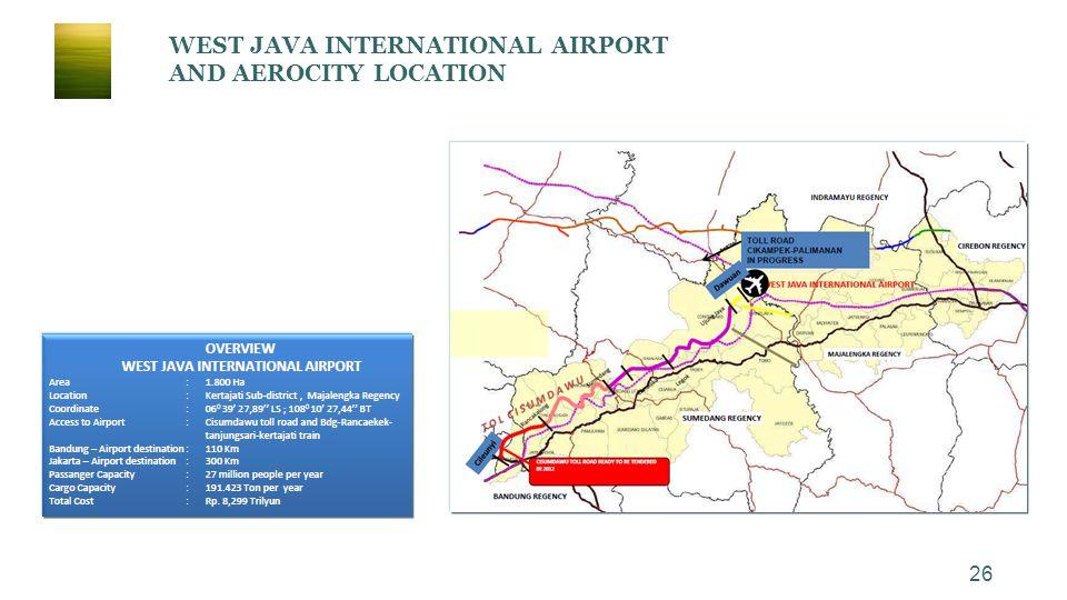 26 WEST JAVA INTERNATIONAL AIRPORT AND AEROCITY LOCATION