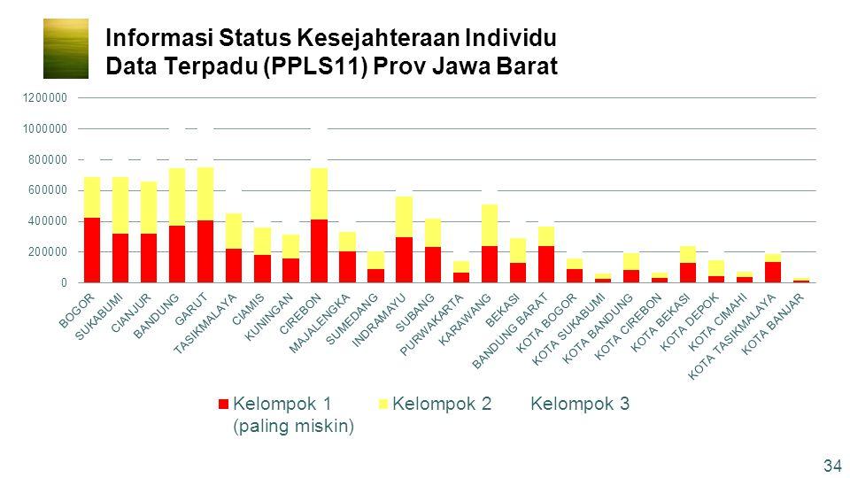 Informasi Status Kesejahteraan Individu Data Terpadu (PPLS11) Prov Jawa Barat 34