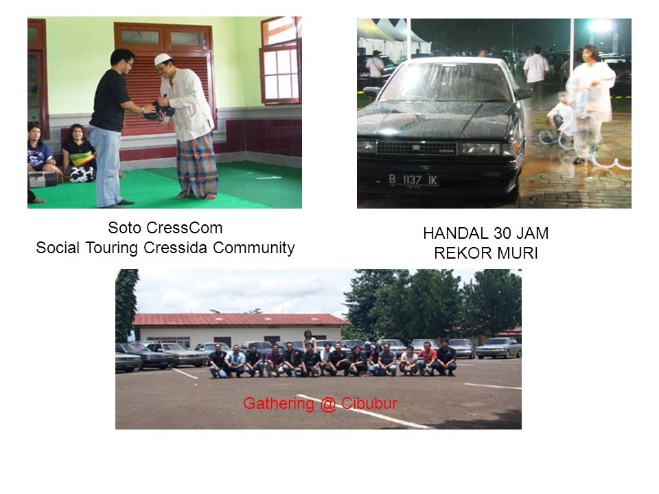 CONTACT PERSON HUMAS CRESSIDA COMMUNITY INDONESIA Hotline : +628176022282 / +6281808901596 / +6283890706111 EMAIL : humascresscom@gmail.comhumascresscom@gmail.com MAILING LIST cressida-indonesia@yahoogroups.com BLOG http://cressidacommunity.blogspot.com Sekretariat : Jalan Delima Empang Nomor 117 Lubang Buaya, Jakarta Timur – INDONESIA 13810