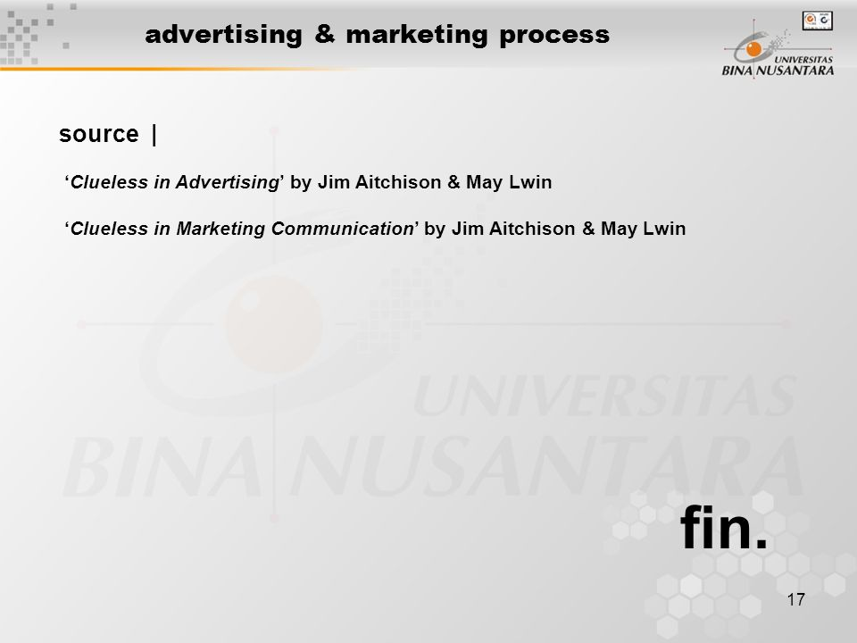 17 advertising & marketing process fin.