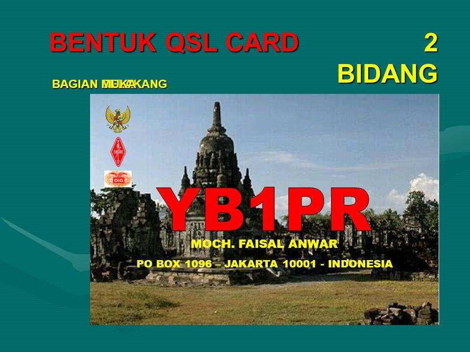 DATA QSL CARD YB1PR OC – 28 ITU 54 LOC OI33 YB1PR M.