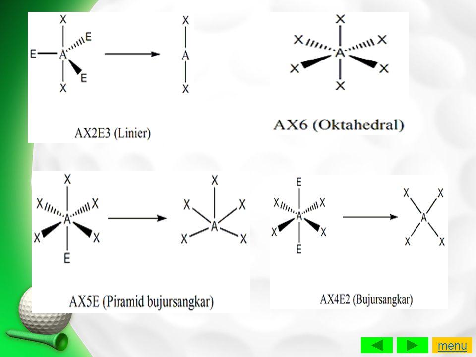 Jika diketahui nomor atom Cl =17, F = 9, dan I = 53, bagaimanakah bentuk molekul: a.ClF 3 .