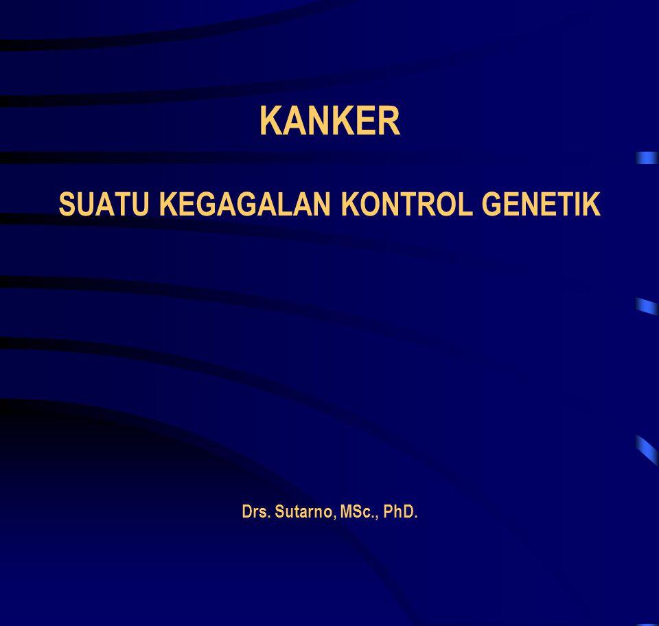 Kanker • Merupakan salah satu penyakit paling umum saat ini, • 1 dari 4 kematian adalah karena kanker.