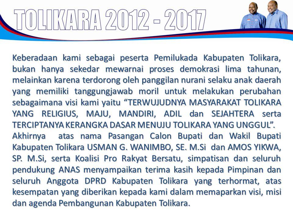 Keberadaan kami sebagai peserta Pemilukada Kabupaten Tolikara, bukan hanya sekedar mewarnai proses demokrasi lima tahunan, melainkan karena terdorong
