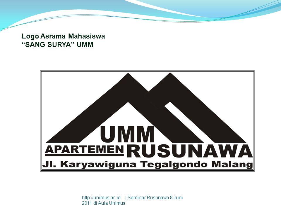 "Logo Asrama Mahasiswa ""SANG SURYA"" UMM http://unimus.ac.id | Seminar Rusunawa 8 Juni 2011 di Aula Unimus"