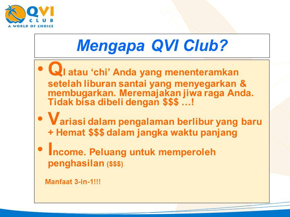 Yang Berbeda di QVI Club •H•HEMAT $$$ pada liburan Anda & sekaligus MERAUP $$$ dari downline aktif Anda.