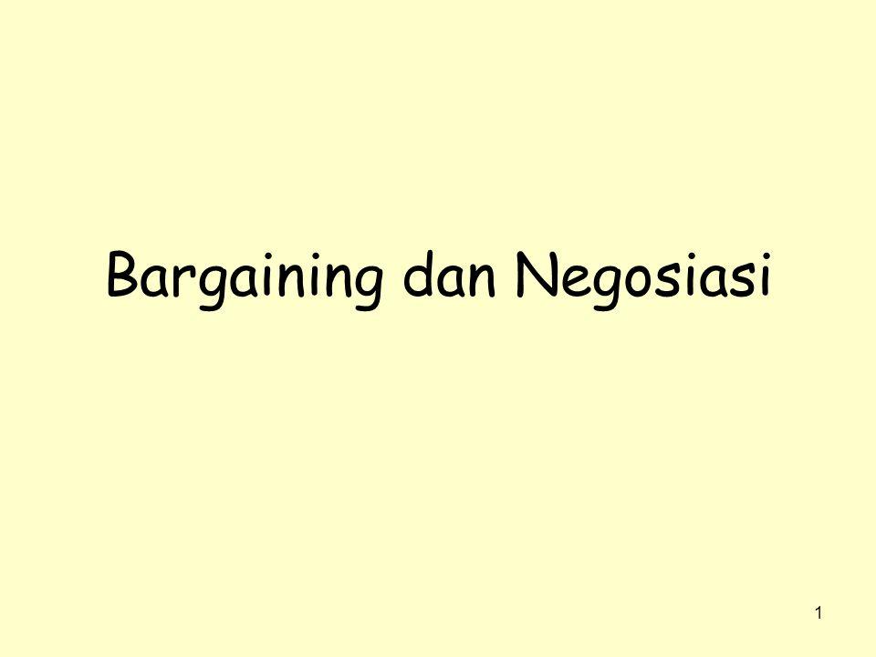 1 Bargaining dan Negosiasi