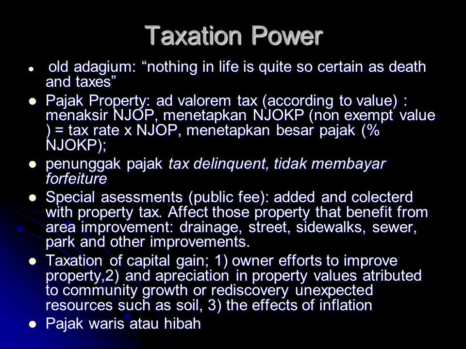 Contoh Praktek Proprietary Power: Land Banking  Akuisisi penguasaan lahan untuk dikelola untuk peng- gunaan masa depan dengan tujuan utuk mengarahkan