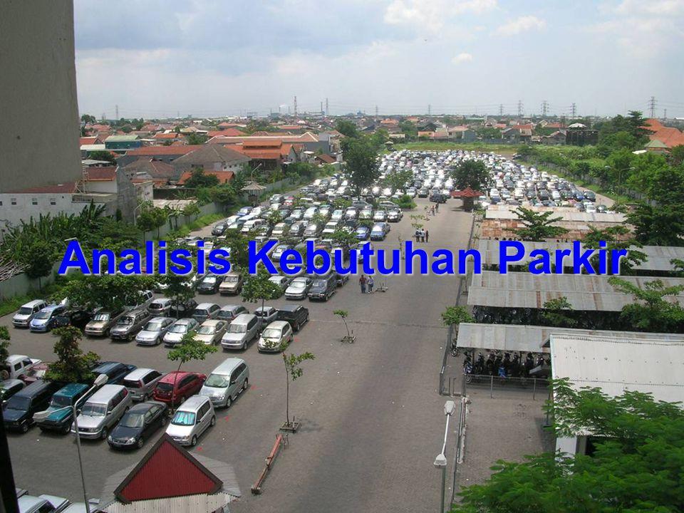 Metode Berdasarkan Kepemilikan Kendaraan Metode ini mengasumsikan adanya hubungan antara luas lahan parkir dengan jumlah kendaraan yang tercatat di pusat kota.