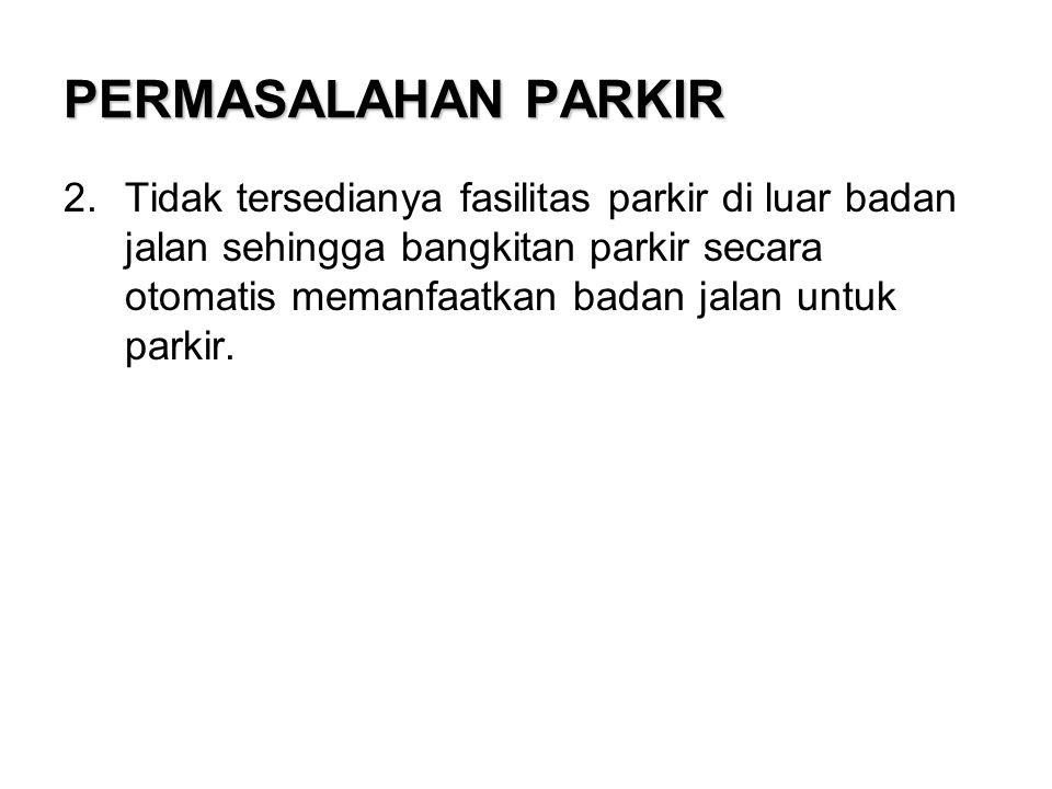 Parkir Pada Badan Jalan •Penentuan Sudut Parkir •Pola Parkir •Larangan Parkir •Desain Parkir