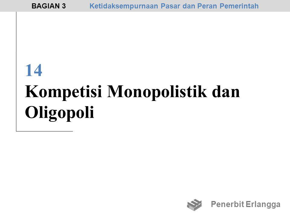14 Kompetisi Monopolistik dan Oligopoli Penerbit Erlangga BAGIAN 3Ketidaksempurnaan Pasar dan Peran Pemerintah