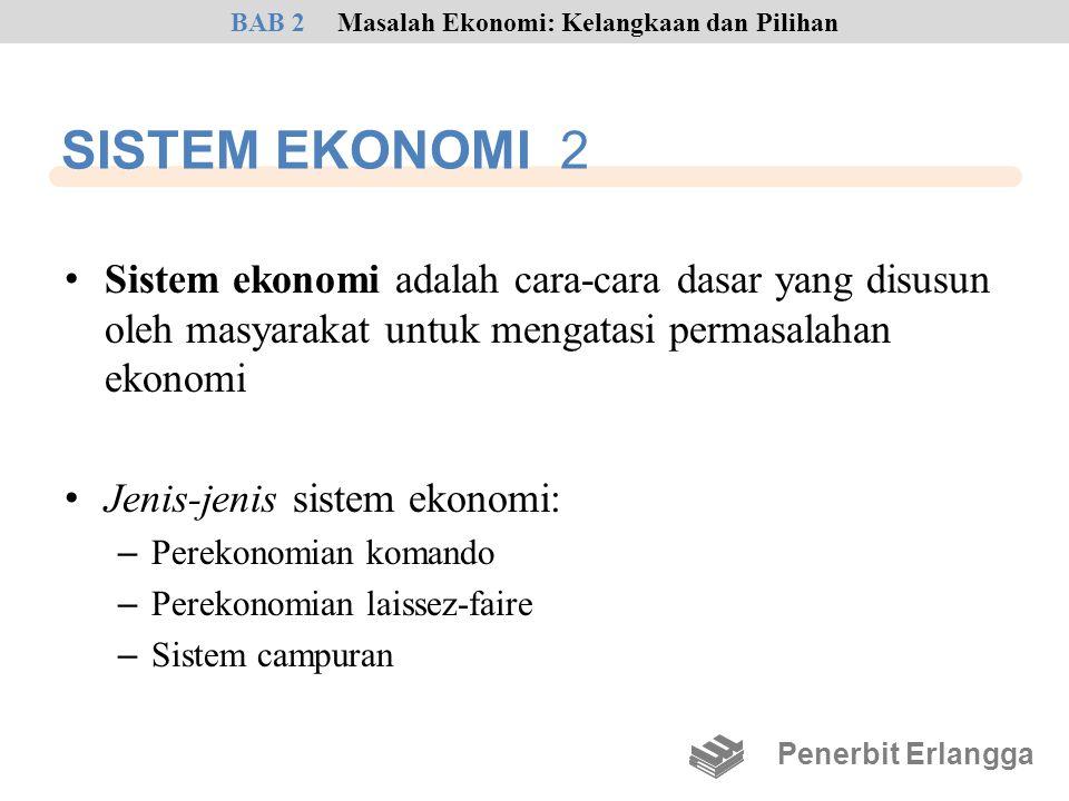 SISTEM EKONOMI 2 • Sistem ekonomi adalah cara-cara dasar yang disusun oleh masyarakat untuk mengatasi permasalahan ekonomi • Jenis-jenis sistem ekonom