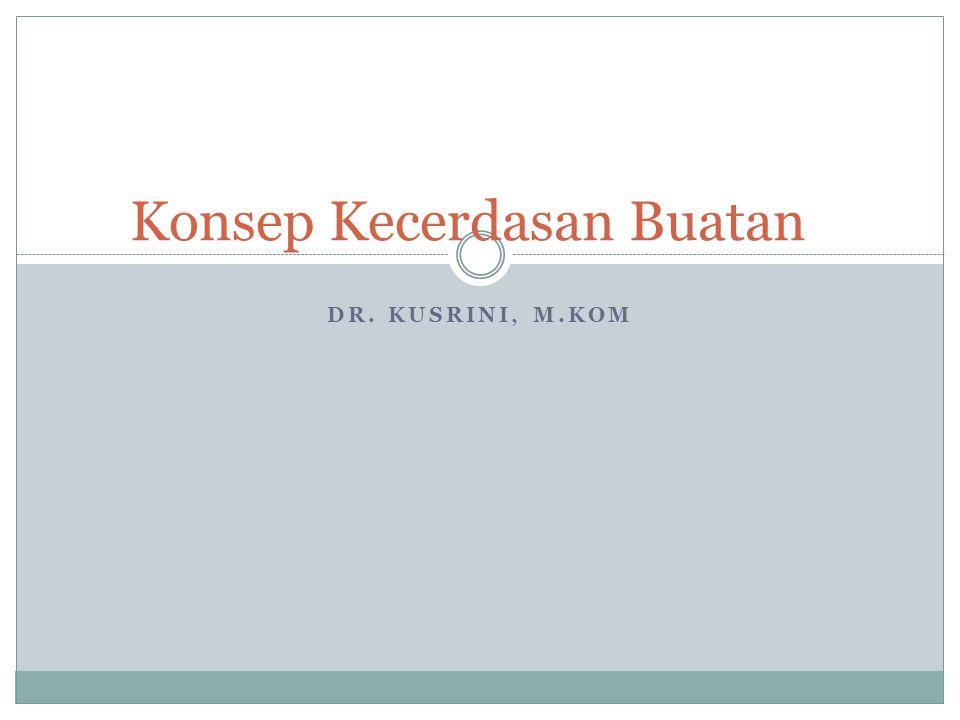 DR. KUSRINI, M.KOM Konsep Kecerdasan Buatan