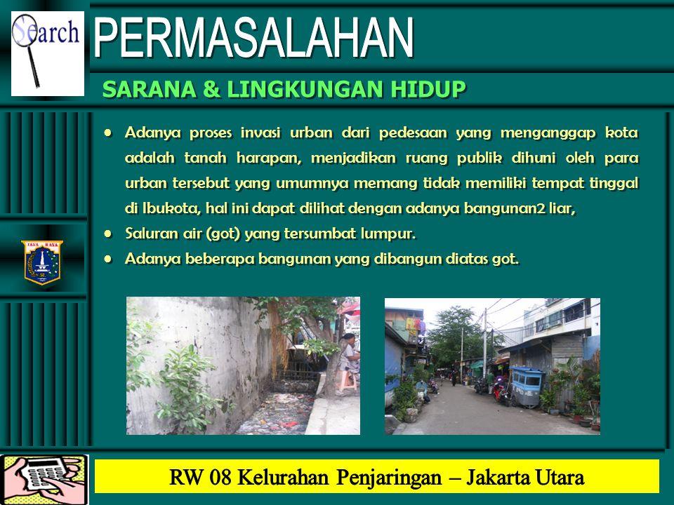 •Adanya proses invasi urban dari pedesaan yang menganggap kota adalah tanah harapan, menjadikan ruang publik dihuni oleh para urban tersebut yang umum