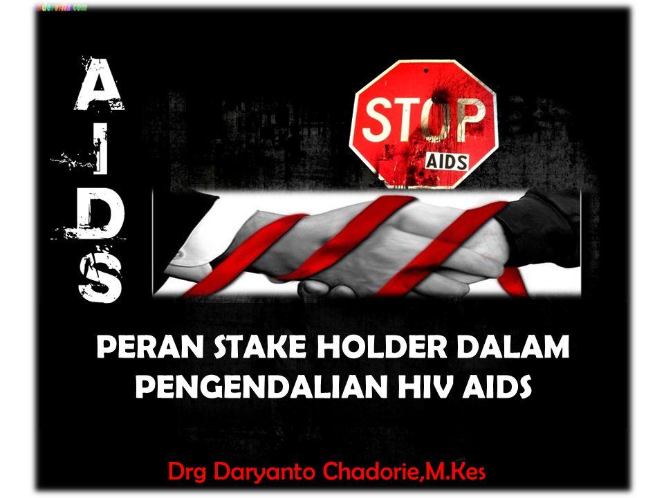 PERAN STAKE HOLDER DALAM PENGENDALIAN HIV AIDS Drg Daryanto Chadorie,M.Kes