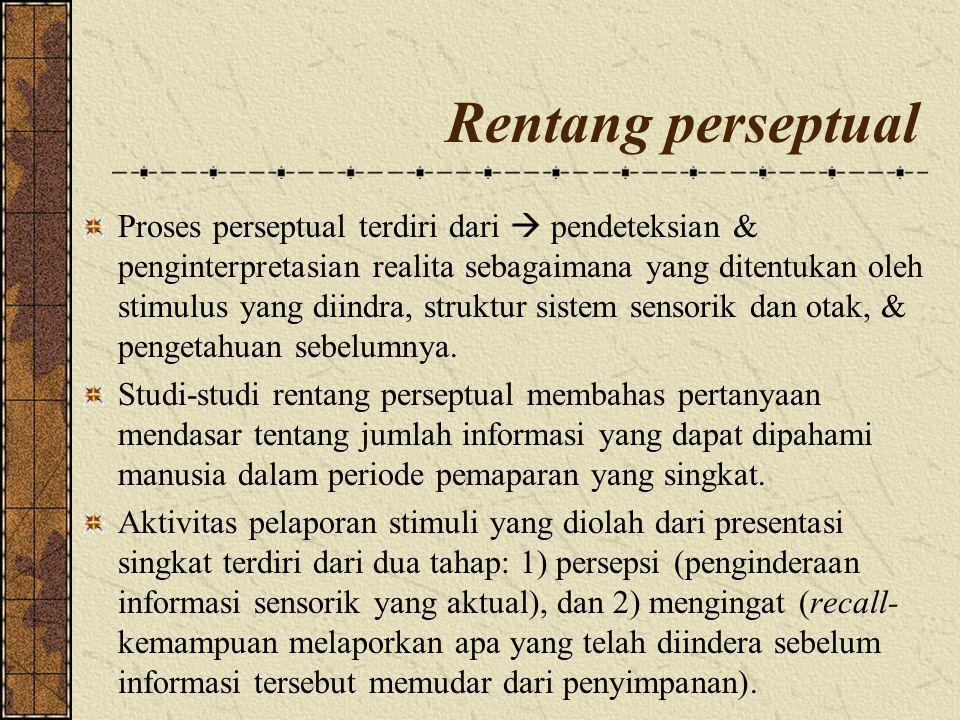 Pengaruh Psikologis & Budaya Persepsi juga dipengaruhi oleh: 1.Needs: more likely to perceive something when we need or have an interest in it 2.Beliefs: what we believe can affect what we perceive 3.Emotions: can influence interpretations of sensory information (especially pain & fear) 4.Expectations: previous experiences influence what we perceive (e.g., perceptual set) Copyright © 2010 Pearson Education Canada
