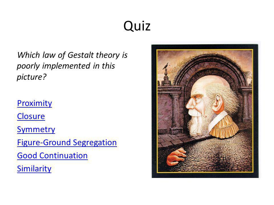 Which law of Gestalt theory is used to create groups of four in this figure.