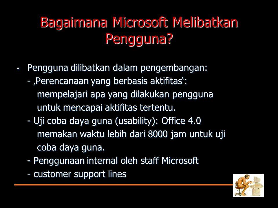 Bagaimana Microsoft Melibatkan Pengguna.