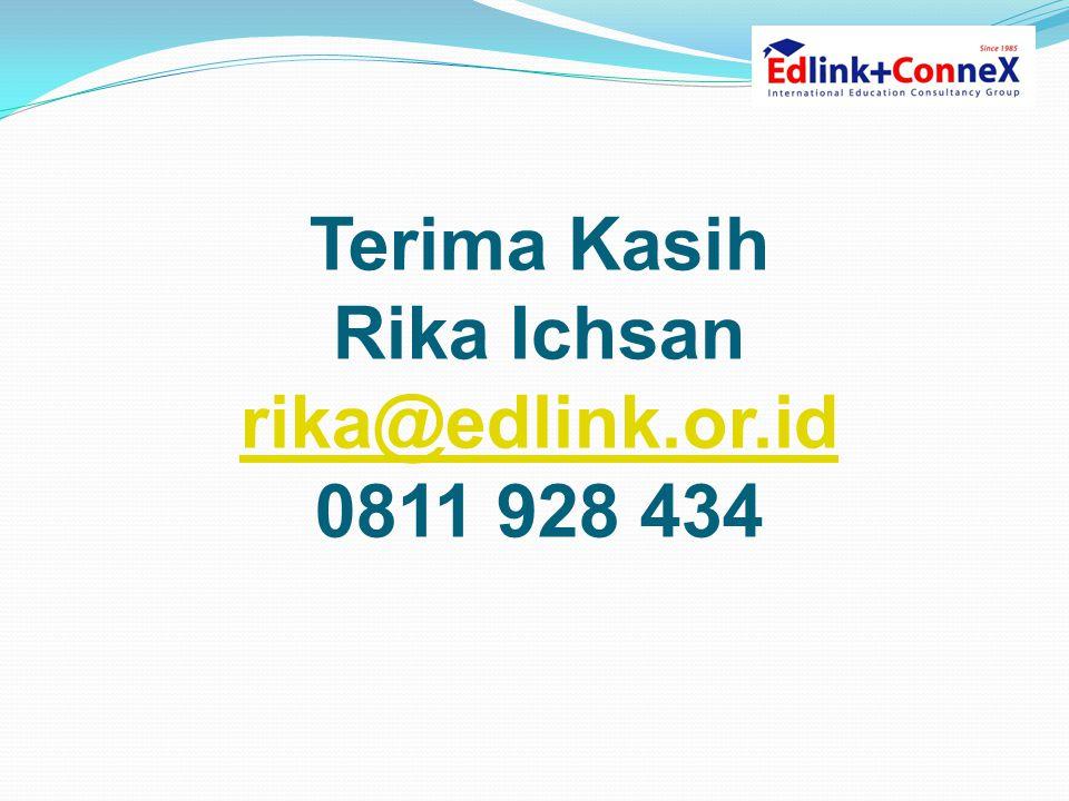 Terima Kasih Rika Ichsan rika@edlink.or.id 0811 928 434 rika@edlink.or.id